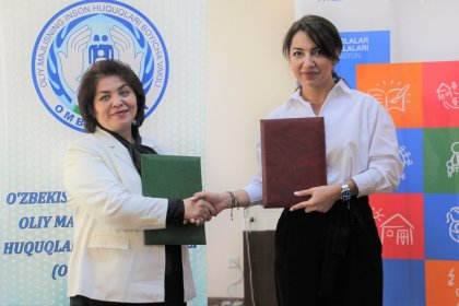 Memorandum of Cooperation was signed between the Deputy Ombudsman - Commissioner for Children's Rights and the SOS Children's Villages Uzbekistan