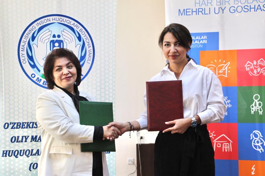 Меморандум о сотрудничестве между детским омбудсменом и ассоциацией SOS Детские деревни Узбекистана